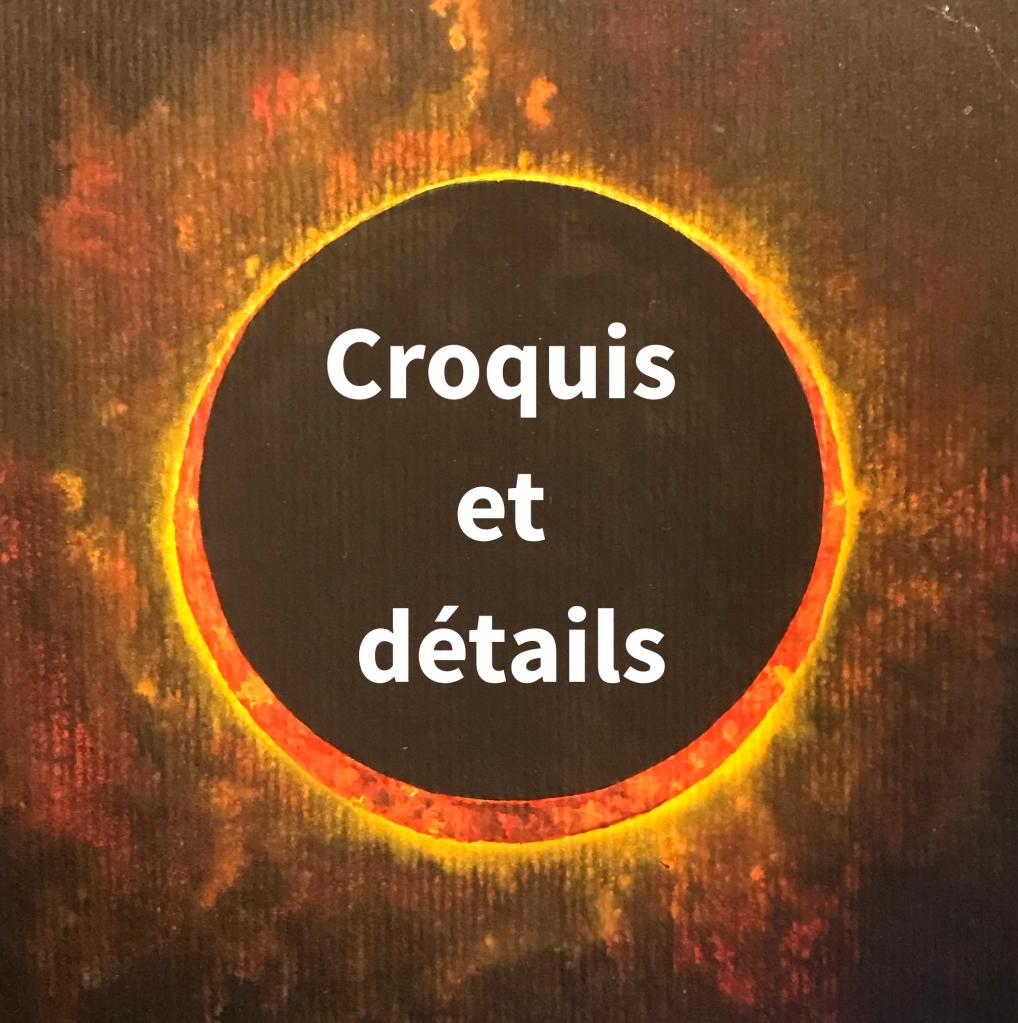 Aquarelle papier noir Eclipse mlam noiram marion-lorraine poncet